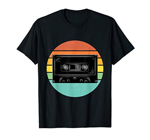 Vintage Cassette and Retro 80s Outrun Sunset T-shirt, Many Colors for Men, Women, Child