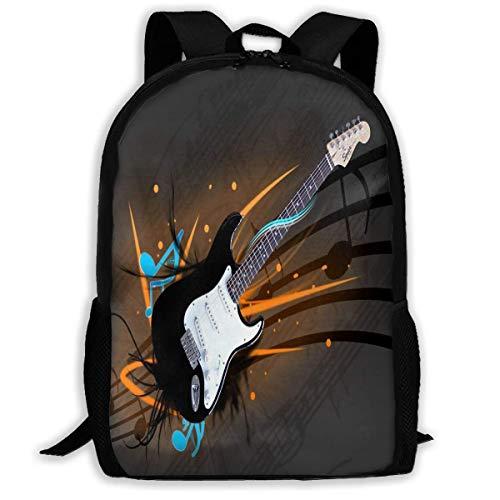 Rucksack E-Gitarre Wallpapers Zipper School Bookbag Daypack Travel Rucksack Gym Bag