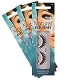 Reusable Fake Eyelashes, Lightweight, Self-Adhesive False Lashes, No Sticky Lash Glue Required: 3 sets