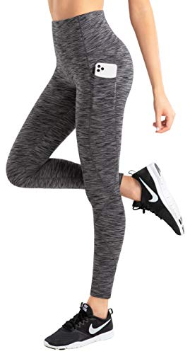 LifeSky Yoga Pants for Women, High Waisted Tummy Control Workout Leggings with Pockets, 4 Way Stretching, XS