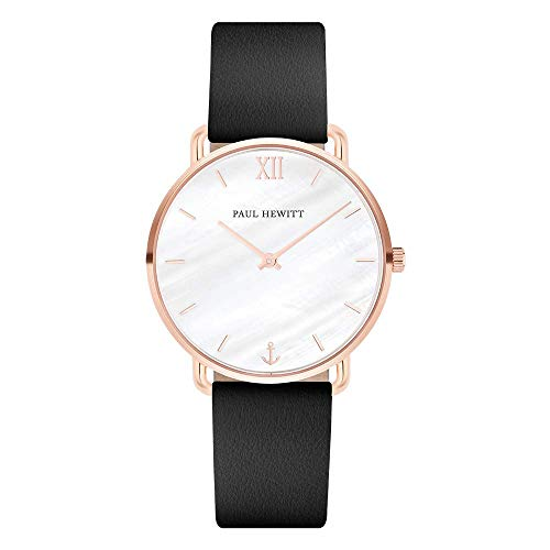 Paul Hewitt Damen Analog Quarz Smart Watch Armbanduhr mit Leder Armband PH-M-R-P-32S