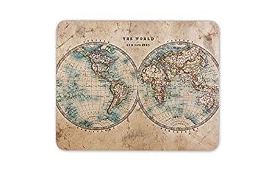 The World Hemispheres Map Mouse Mat Pad - Educational Computer #14392