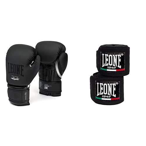 LEONE 1947 GN059 Guantes de Boxeo, Mujer, Negro, 10M + LEONE 1947...