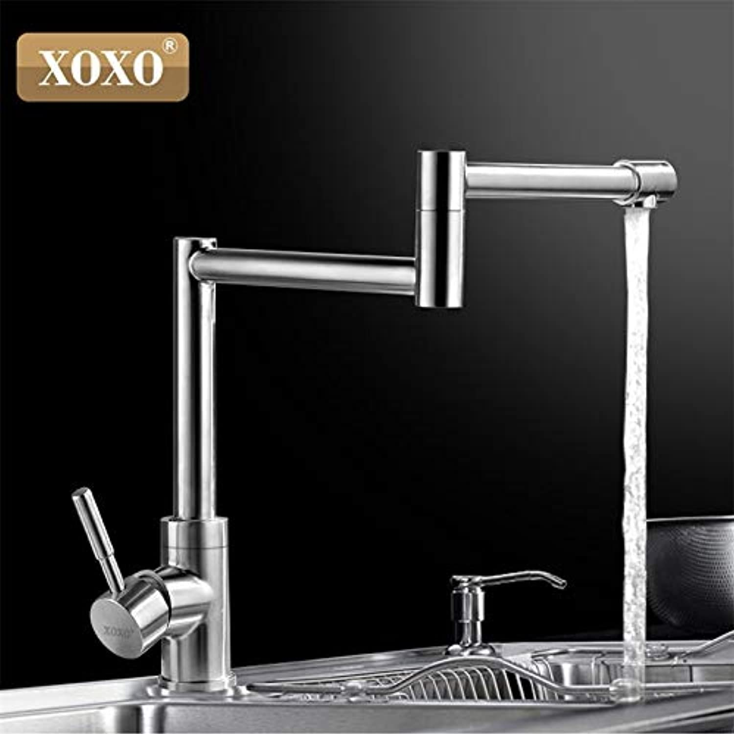 U-Enjoy Chandelier Stainless Steel 304 Swivel Dish Top Quality Washing Head Basin Faucet Hot Cold Wash Face and Basin Shampoo Puckering 83026-2 Free Shipping