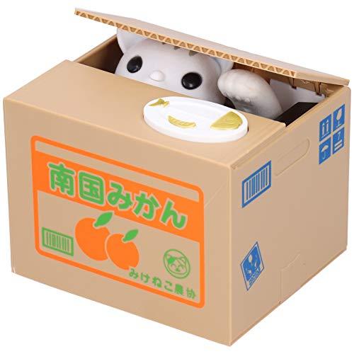 Jeanoko Robar la caja de dinero caja de ahorro poner la moneda en el botón establecer hábitos de ahorro de dinero para niños