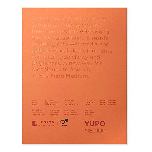Yupo Paper L21-YUP197W912 White Sheets, 9' x 12', 10 count