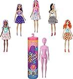 Barbie Color Reveal, muñeca que revela sus colores con agua, incluye ropa y accesorios, regalo para niñas y niños 3-9 años (Mattel GMT48) , color/modelo surtido