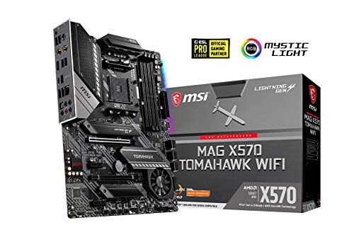 MSI MAG X570 Tomahawk WiFi Arsenal Mainboard (AMD X570, 2X PCI-E 4.0 x16, RAID 0, 1, 10, Intel Wi-Fi 6 AX200, Bluetooth 5.0)
