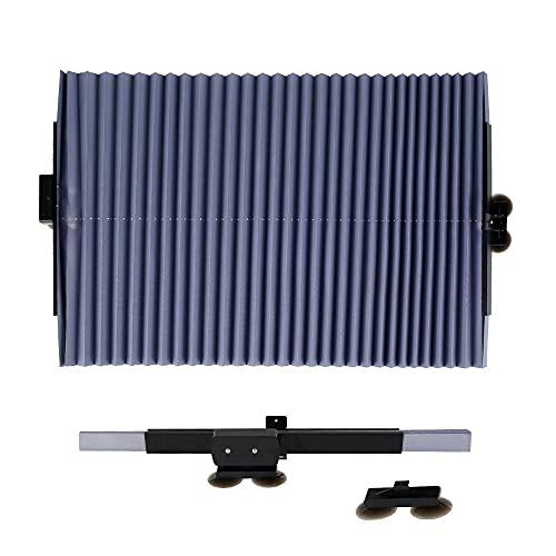 TWWSA Parasol de Coche Caja de Parabrisas Cortina Retráctil Conjunto Coche Plegable Cubierta de la sombrilla Cortinas de película Reflectante Anti-UV Coche Sol Shade UV Protector Proteger de la luz