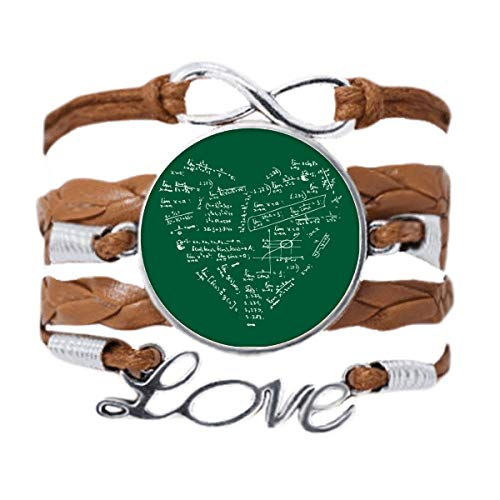 DIYthinker Limits Mathematical Formulas Calculus Painted Bracelet Love Chain Rope Ornament Wristband Gift