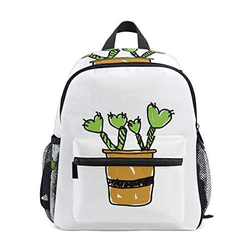 MALPLENA Bolsa de viaje para niños Cute Little Cactus School Bag