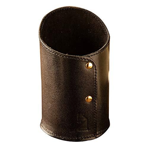 [アム デ マス] ペン立て 栃木レザー 円筒 本革 レザー 日本製 小物 ペンホルダー ハンドメイド シンプル PH-023 ブラック