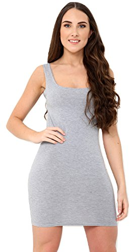 Momo&Ayat Fashions dames Casual Jersey Cami hals Fitted Bodycon jurk UK Maat 8-14