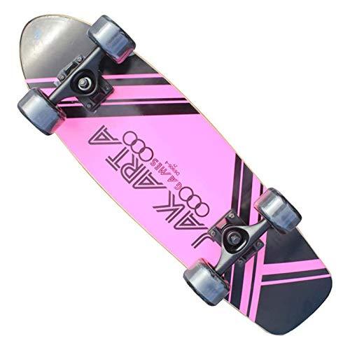 Hignful Retro Cruiser Skateboard 27 Inch Board Maple Penny Board Skate De Larga Distancia, Regalo Vintage para Adultos Principiantes Profesionales Niños Niñas ABEC-11 Rodamientos De Bolas