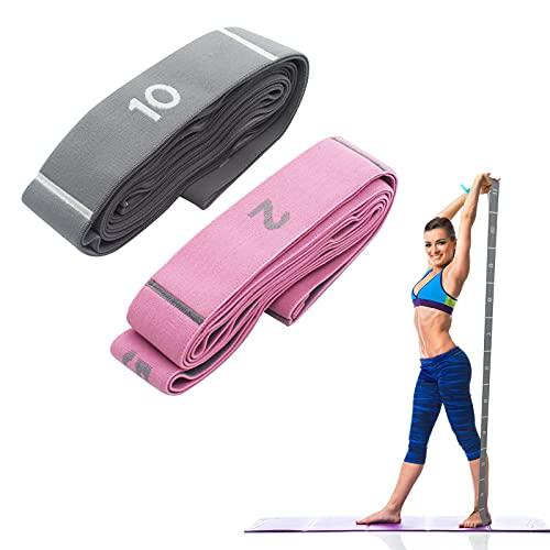 2 bandas elásticas de gimnasia, bandas elásticas para yoga, fáciles de llevar y muy elásticas, ideales para yoga, terapia física, mayor flexibilidad