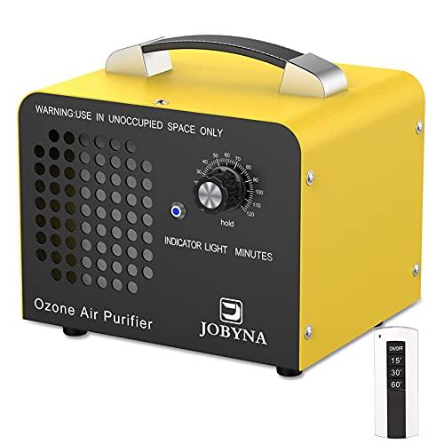 JOBYNA Ozongenerator O3 Ozon-Luftreiniger mit Fernbedienung, 10,000mg/h Industrieller Ozonizzatore mit Timer, Geruchskiller Geruchsentferner für Zimmer, Büro, Garage, Autos, Rauch und Haustiere