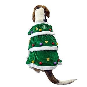Vêtement Déguisement Chien Chiot Costume D'hiver Doux et Chaud Cosplay Design de Deux Pattes Pour la Fête Conception D'arbre de Noël