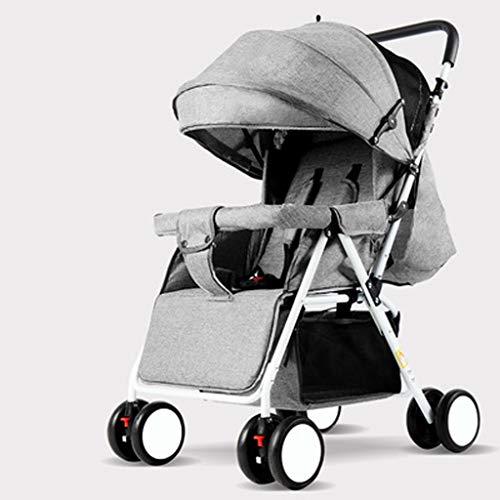 JIAX Rollstuhl Kinderwagen,Anti Shock Folding Leichter Kinderwagen Multi Funktionen Standard Kombikinderwagen,universal Passend for Gängige Kinderwägen Bis 25 Kg (Color : Gray)