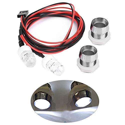 Dilwe 2 Stück 10mm Scheinwerfer LED Lichter für RC Modell Drift Auto Fahrzeug Zubehör( 20 # weißes Licht)