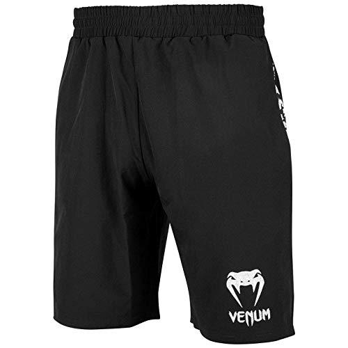 Venum Herren Classic Trainingsshorts, Schwarz/Weiß, XL