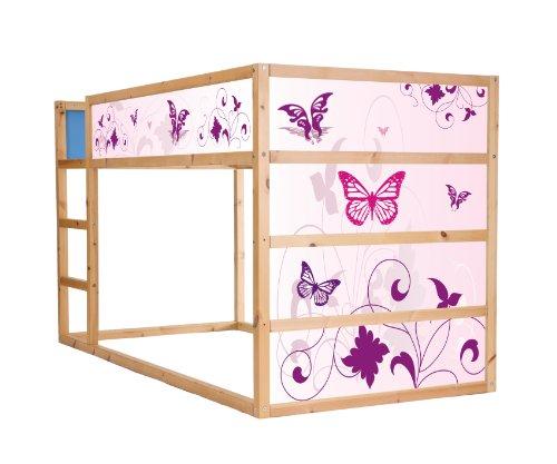 Stikkipix Pink World Möbelsticker/Aufkleber für das Hochbett KURA von IKEA - IM21 - Möbel Nicht Inklusive