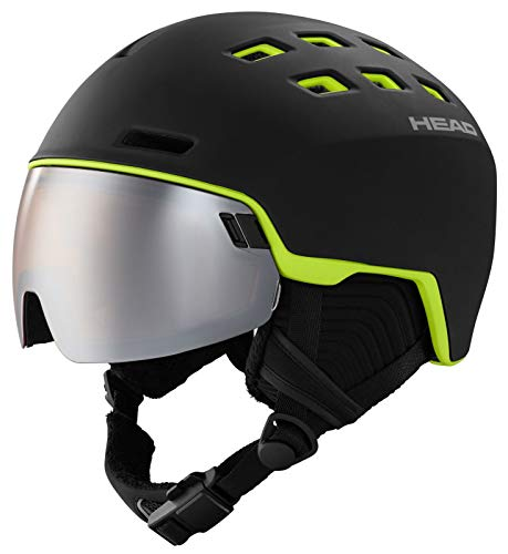 HEAD Unisex Radar Skihelm Snowboardhelm schwarz/Lime, XS/S
