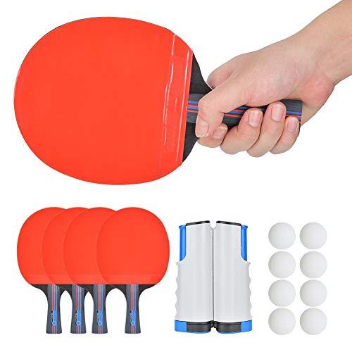 01 Juego de Tenis de Mesa Resistente Pelotas de Tenis de Mesa de Goma invertidas de Doble Cara, Accesorios de Pelotas de Ping Pong Ligero para Interiores