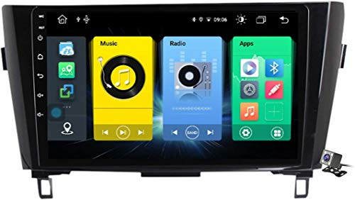 9 pollici QLED touch screen Android 10 navigazione multimediale per Nissan X-Trail Qashqai 2013-2016, RDS FM Am Récardio Stereo con sistema GPS, supporta DSP Carplay