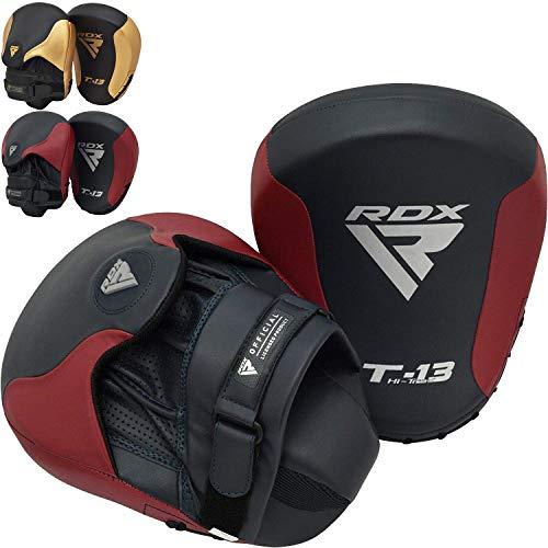 RDX Handpratzen Kampfsport Boxen Pads Boxpads BoxPratzen MMA Schlagpolster Kickboxen Muay Thai Training Schlagkissen Haken und Jab Sparring Sandsack (MEHRWEG)