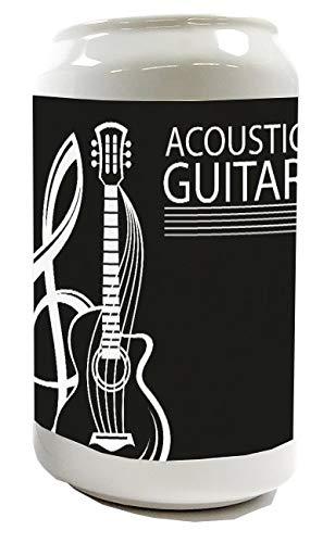 LEotiE SINCE 2004 Spardose Sparbüchse Geld-Dose Wiederverschließbar Farbe Weiß Küche Akustik Gitarre Keramik Bedruckt