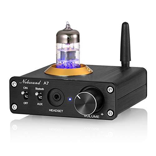 Nobsound A7 6N3 Mini 真空管アンプ Bluetooth 5.0 レシーバー ヘッドフォンアンプ ステレオ オーディオ アンプ