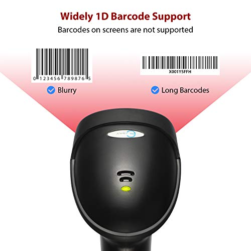 Esky USB Automatic Barcode Scanner Scanning Reader Wired Handheld/Handfree 1D Laser Bar Code USB Wired for POS System Sensing and Scan Black with Adjustable Stand,For Store, Supermarket, Warehouse Photo #2