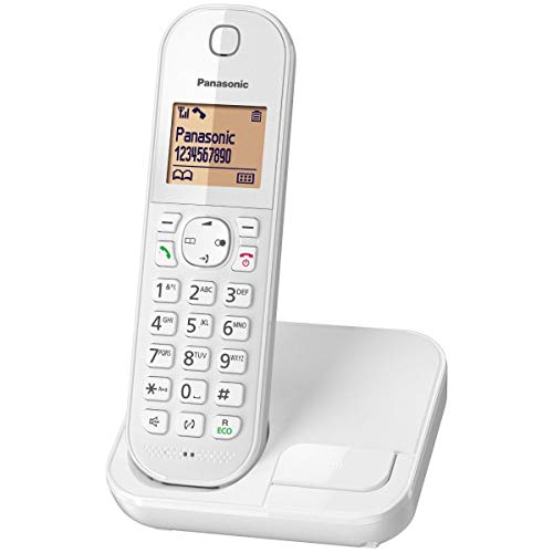 Panasonic KX-TGC410FRW DECT-Telefon Anrufer-Identifikation Weiß Telefon - Telefone (DECT-Telefon, Kabelgebundenes Mobilteil, Freisprecheinrichtung, 50 Eintragungen, Anrufer-Identifikation, Weiß)