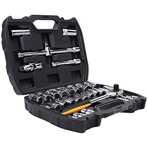 Upupto Herramientas de reparación de automóviles de 46 / 32pcs, Conjunto de Herramientas de Llave de torsión de torsión para carpintería Kit de reparación de automóviles portátiles,6.3mm/46