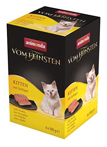 animonda Vom Feinsten Kitten, Nassfutter für wachsende Katzen im ersten Lebensjahr, mit Geflügel, 6 x 100 g