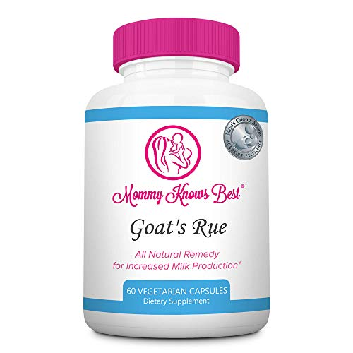 Goat's Rue Lactation Aid Support Supplement for Breastfeeding Mothers - 60 Vegetarian Capsules - Breast Milk Supply Increase for Nursing Moms