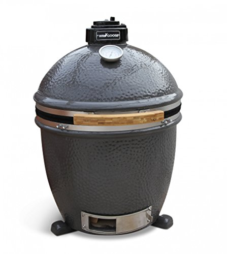 Wild Goose BBQ 18-Inch Kamado free standing alone Ceramic Grill - ACCESSORY PACKAGE INCLUDED!