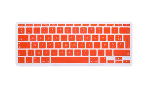 Super Super Super - Carcasa de silicona para teclado de MacBook Air de 11 pulgadas de 11,6 pulgadas A1465/A1370, color naranja