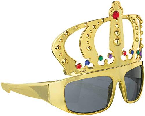 amscan 250493-55 Spaß-Brille König, Mehrfarbig