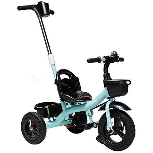 azz 4-in-1 driewieler kinderwagen, driewieler met duwstang met 12 maanden A 5 jaar
