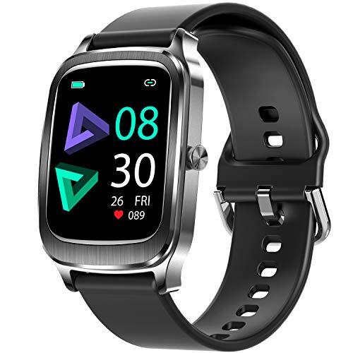 ieverda Smartwatch, 1.65 Zoll Voll Touchscreen Fitness Tracker mit Pulsmesser und Schlafanalyse, Fitnessuhr mit Musiksteuerung Kamerasteuerung Schrittzähler, Sport Armbanduhr für Damen Herren