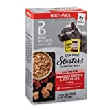 Pure Balance Classic Starters Gourmet Cat Treats, Shredded Chicken & Beef in Broth, 1.4 oz, 5 Pack