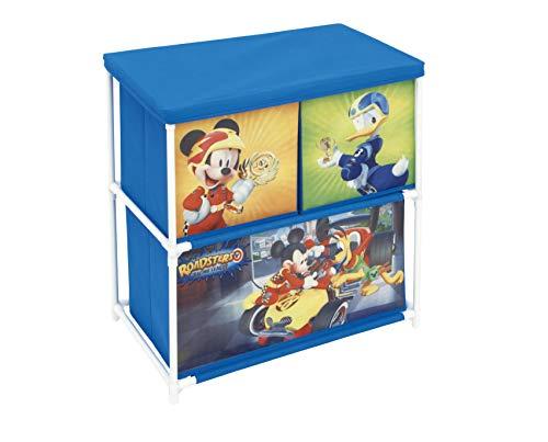 ARDITEX – Mueble de Metal para Almacenamiento (3 Compartimentos bajo Licencia Mickey Mouse Dimensiones: 53 x 60 x 30 cm, poliéster, 53 x 30 x 60 cm)