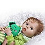 ADZKOO 56cm Full Body Silicone Reborn Babies Doux Réel Doux Toucher Poupées Jouets pour Enfants Anniversaire De Noël Nice Family