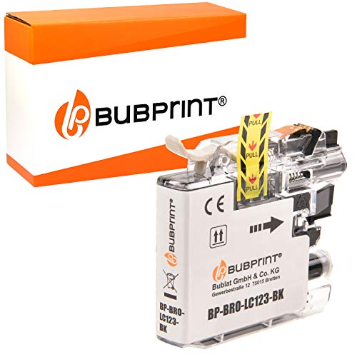 Bubprint Druckerpatrone kompatibel für Brother LC-123BK LC123BK für MFC-J4510DW MFC-J470DW MFC-J6520DW MFC-J6720DW MFC-J6920DW MFC-J870DW Schwarz