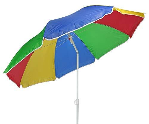 Spetebo Sonnenschirm 180cm bunt mit Knickgelenk - Strandschirm