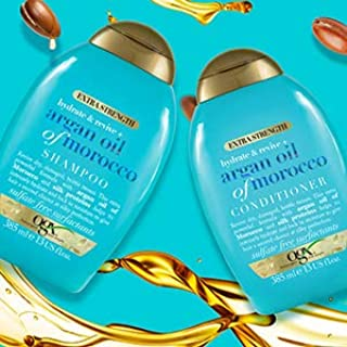 OGX Shampoo and Conditioner, Extra Strength Hydrate and Revive with Argan Oil of Morocco, 385 ml, Pack of 2