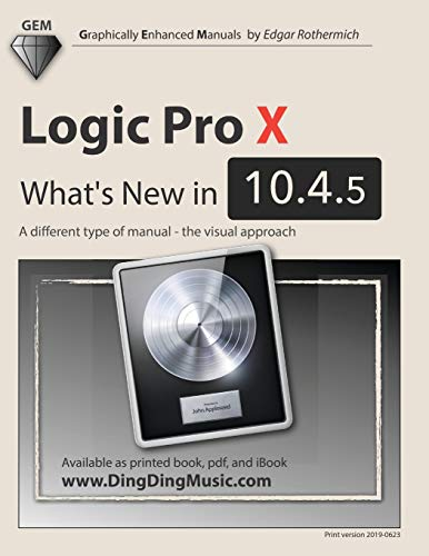 Logic Pro X - What's New in 10.4.5: A different type of manual - the visual approach