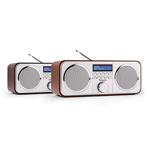 auna Georgia Radio Dab Wood Edition - Radio Despertador , Receptor Digital Dab+...