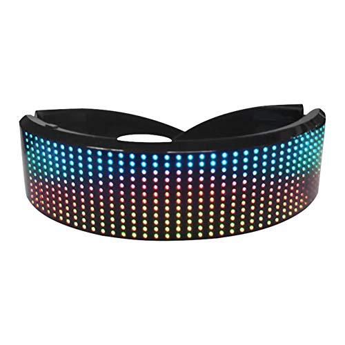 LED Bluetooth Brille Vollfarbige LED-Anzeige Smart Glasses APP-Steuerung Anzeigen Von Nachrichten, Animationen, Musikrhythmus Und DIY-Graffiti Für Partys Halloween